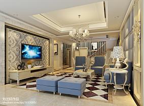 长方形客厅效果图