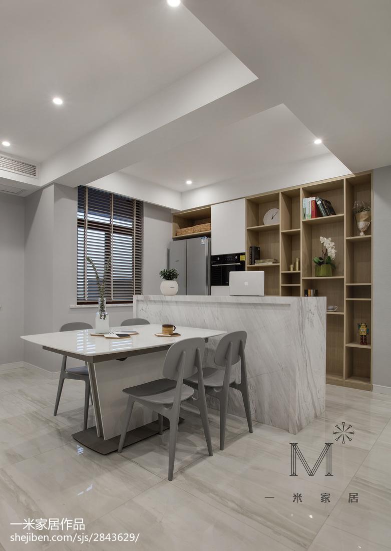 精选102平方三居餐厅现代装修设计效果图片欣赏厨房