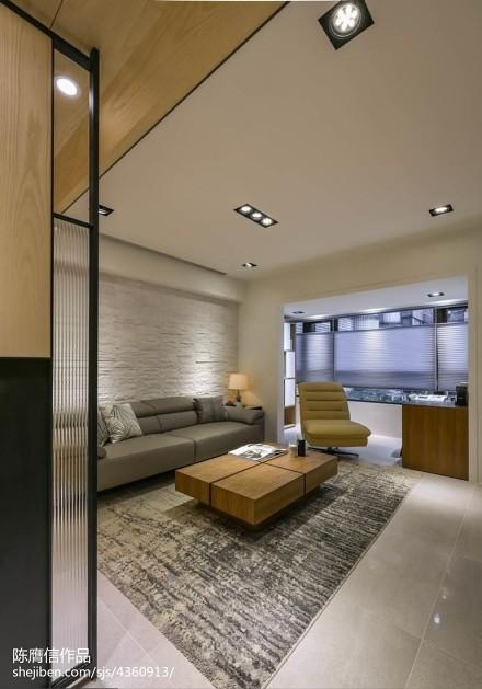 2018精选大小75平现代二居客厅装修设计效果图