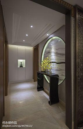 2018精选91平米三居过道中式装修欣赏图片三居中式现代家装装修案例效果图