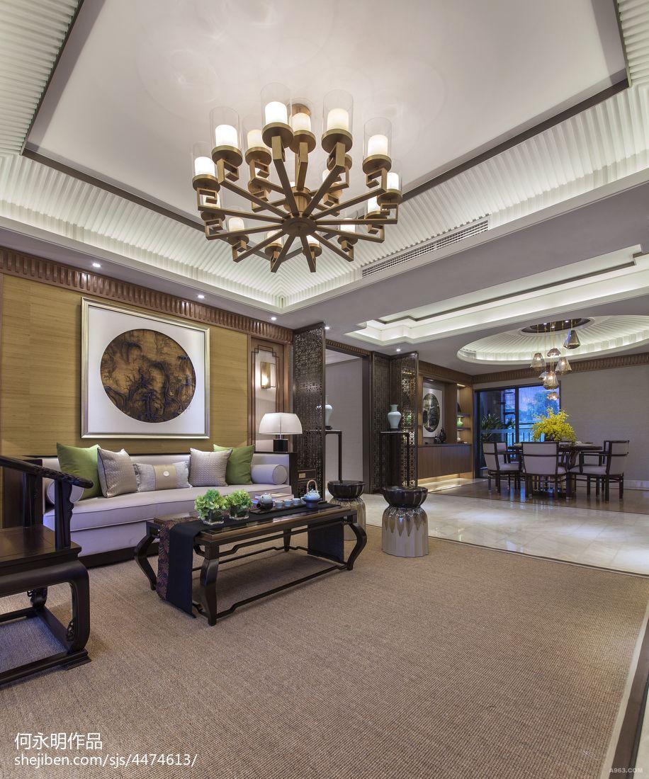 禅意中式风格客厅吊顶设计客厅中式现代客厅设计图片赏析