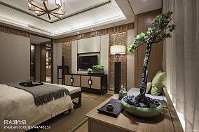 面积100平中式三居卧室装修欣赏图三居中式现代家装装修案例效果图