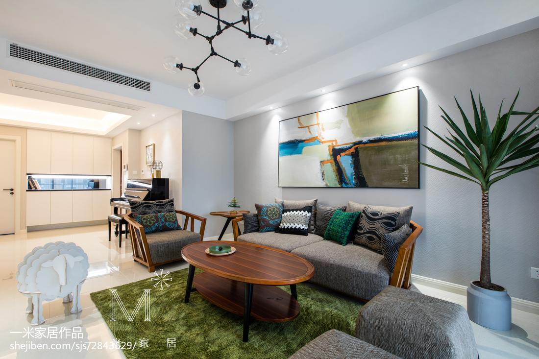 现代风客厅沙发背景墙设计客厅现代简约客厅设计图片赏析