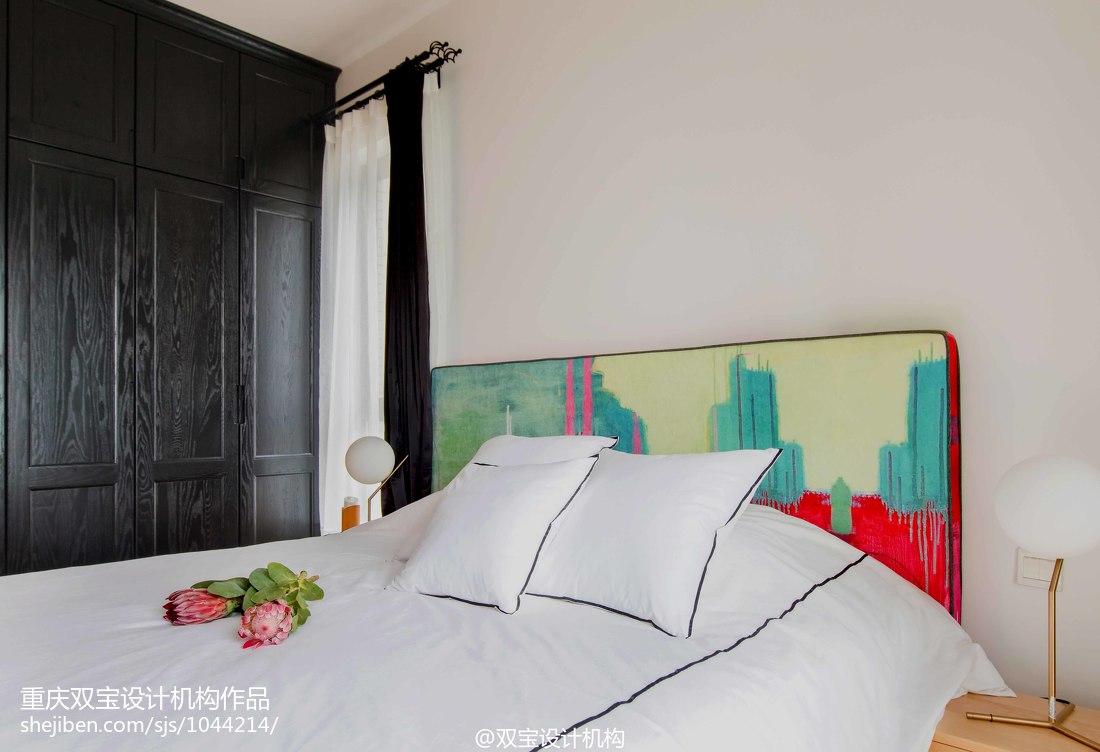 2018精选面积82平混搭二居卧室装修设计效果图片卧室