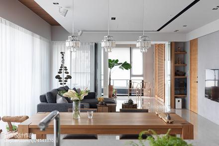 精美日式二居客厅装饰图片欣赏二居日式家装装修案例效果图