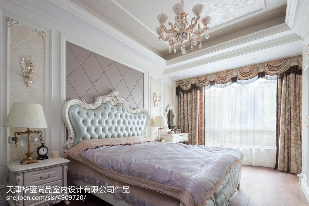 质朴216平欧式别墅效果图片大全卧室欧式豪华卧室设计图片赏析