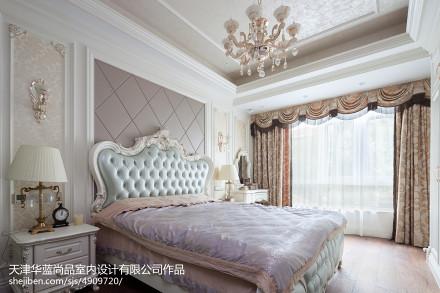 质朴216平欧式别墅效果图片大全卧室