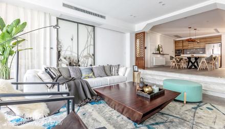 舒适中式风格客厅装饰图四居及以上中式现代家装装修案例效果图