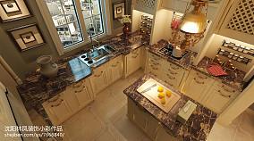 热门99平米三居厨房美式欣赏图
