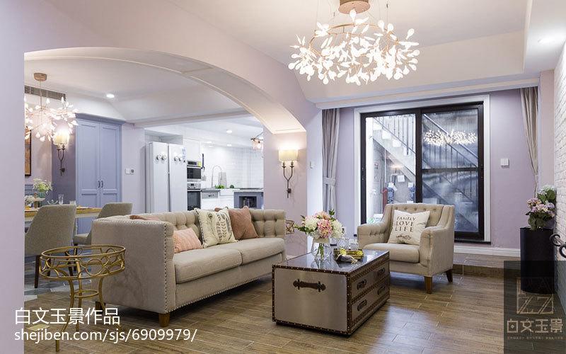 平米混搭复式客厅装修欣赏图片客厅