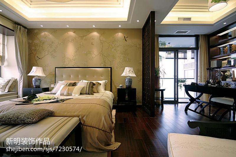 热门121平米中式别墅卧室装修设计效果图片客厅中式现代客厅设计图片赏析