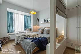热门83平米二居卧室北欧装修实景图片