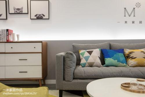 精美101平米三居客厅现代效果图片卧室沙发三居现代简约家装装修案例效果图