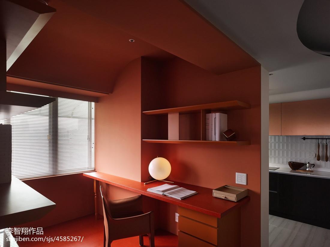简约风格开放式书房设计功能区现代简约功能区设计图片赏析