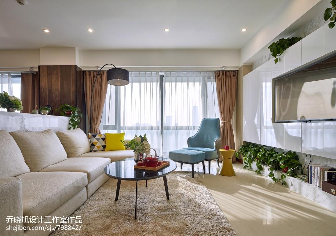 休闲现代风格客厅装修客厅窗帘现代简约客厅设计图片赏析