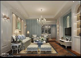 面积70平小户型客厅田园装饰图