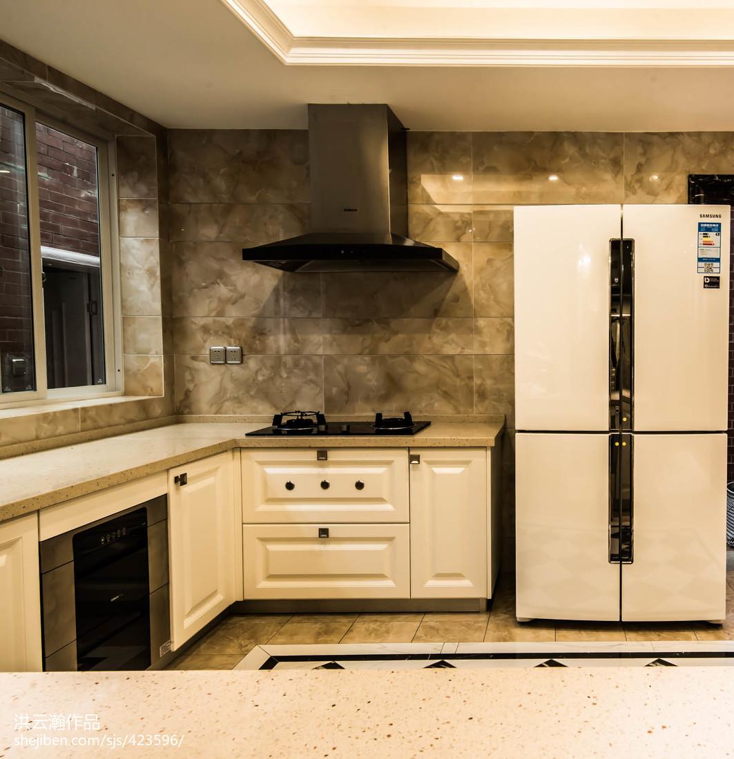热门面积135平复式厨房简欧装饰图片餐厅北欧极简厨房设计图片赏析