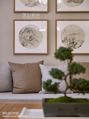 2018精选面积106平中式三居客厅效果图片欣赏