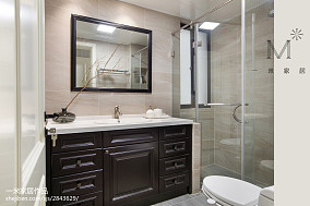 优美103平混搭三居卫生间装修图卫生间1图潮流混搭设计图片赏析