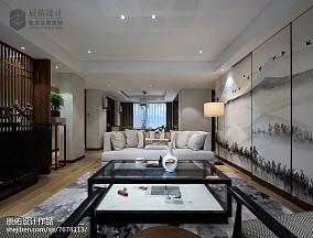 2018精选面积135平复式客厅中式装修效果图片