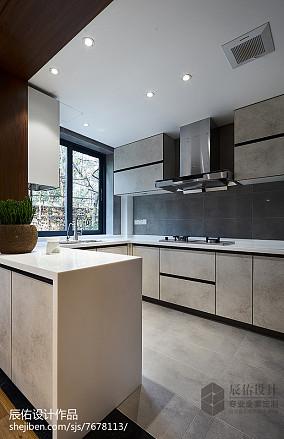 面积133平复式厨房中式效果图片欣赏