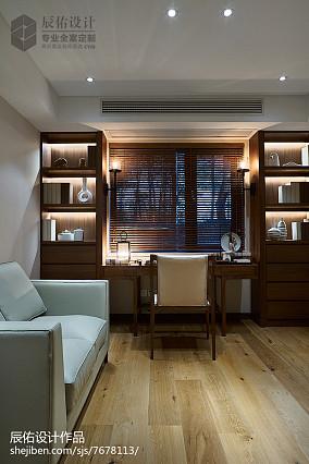 热门112平米中式复式书房装修实景图片大全