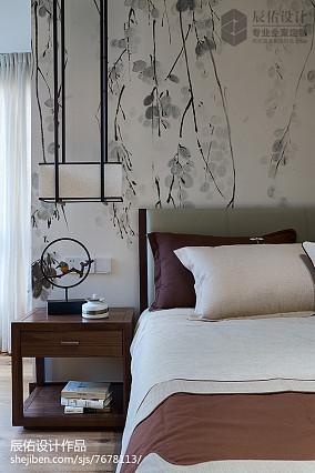 2018精选120平米中式复式卧室装修欣赏图片大全卧室中式现代卧室设计图片赏析