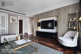 热门138平米四居客厅中式装修设计效果图四居及以上中式现代家装装修案例效果图