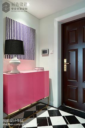 精美中式四居玄关装修图片欣赏四居及以上中式现代家装装修案例效果图