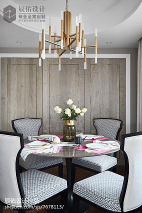 热门面积130平中式四居餐厅装饰图片四居及以上中式现代家装装修案例效果图