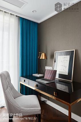 2018中式四居书房装饰图片四居及以上中式现代家装装修案例效果图