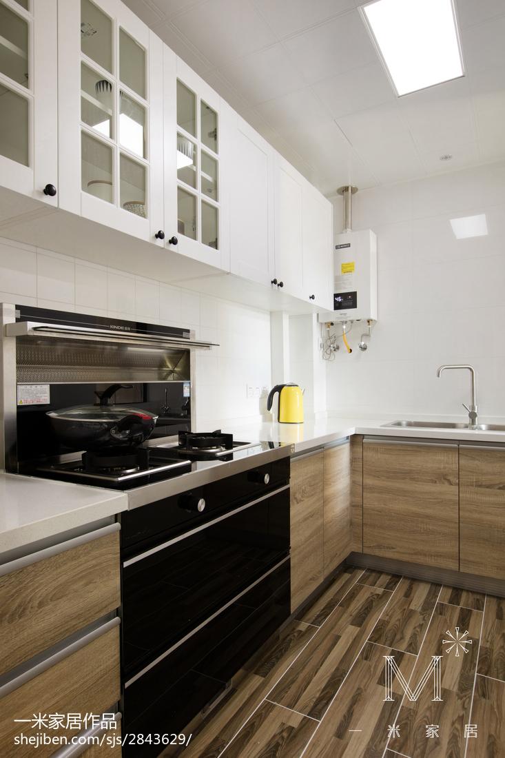 北欧风格整洁橱柜装修餐厅北欧极简厨房设计图片赏析