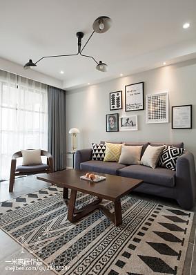 北欧风格客厅装饰画设计二居北欧极简家装装修案例效果图