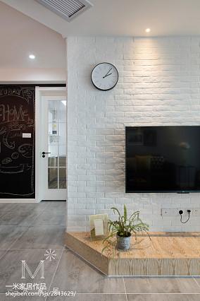 质朴88平北欧二居客厅装修图片二居北欧极简家装装修案例效果图