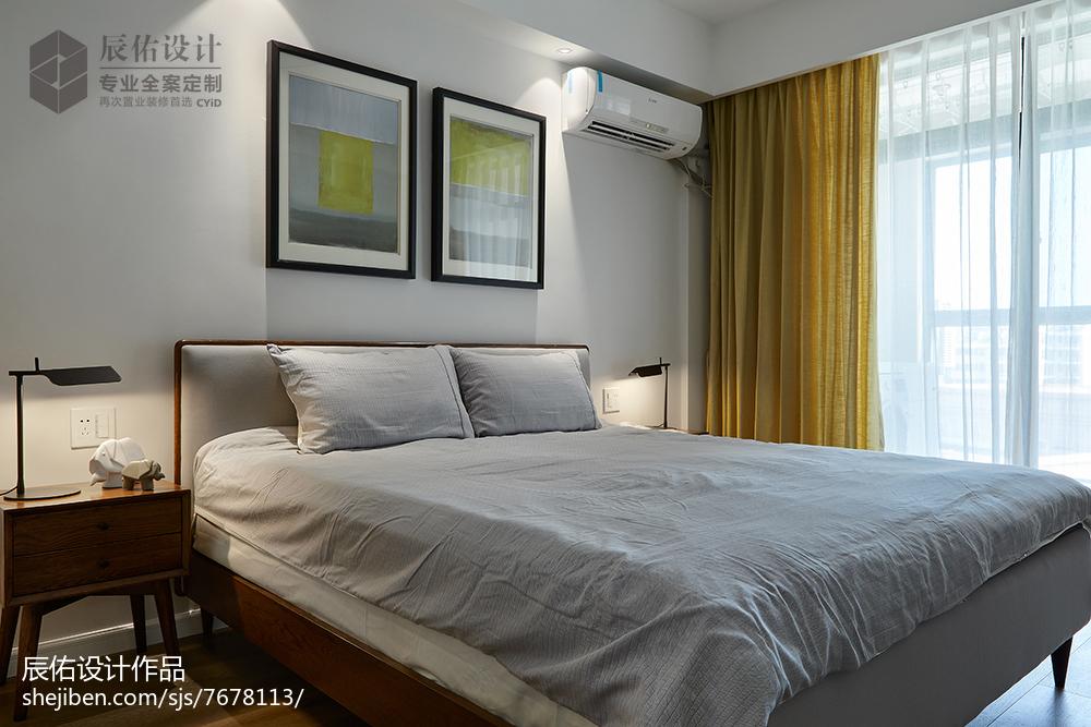 热门109平米三居卧室简约装修欣赏图片卧室
