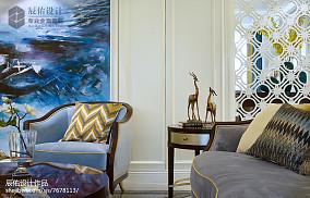 精选面积143平欧式四居客厅装修效果图片