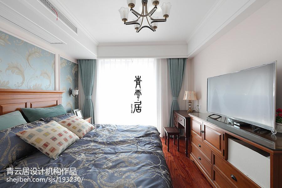 2018精选面积108平美式三居卧室实景图片卧室美式经典卧室设计图片赏析