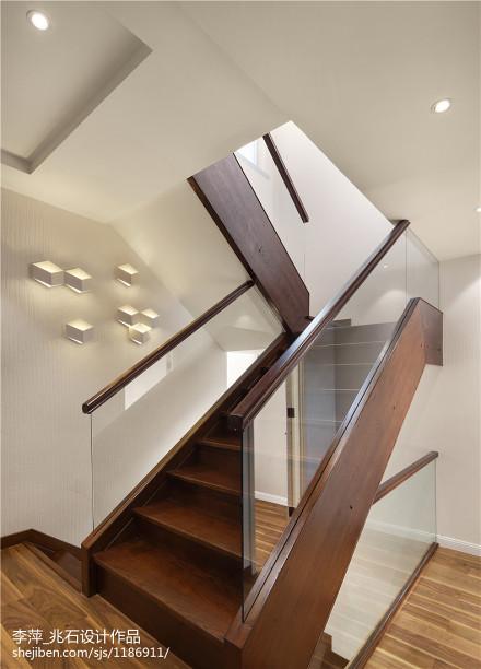 现代别墅楼梯效果图