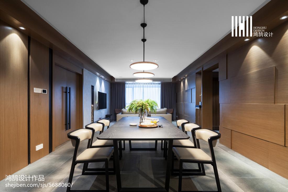 2018面积122平现代四居餐厅装修效果图片大全厨房窗帘现代简约餐厅设计图片赏析