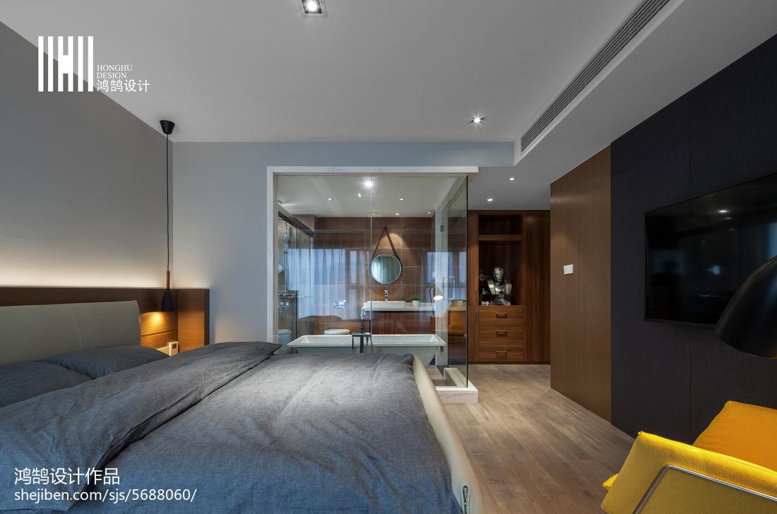 热门120平米四居卧室现代装饰图卧室现代简约卧室设计图片赏析