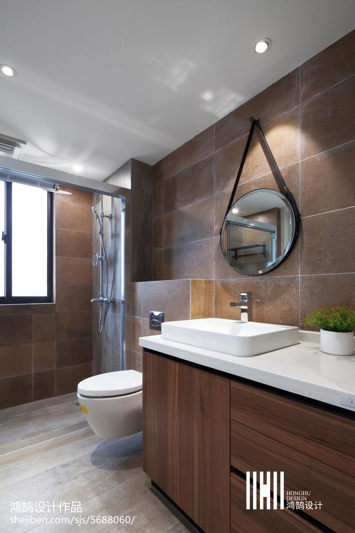 悠雅122平现代四居装修图片卫生间现代简约卫生间设计图片赏析