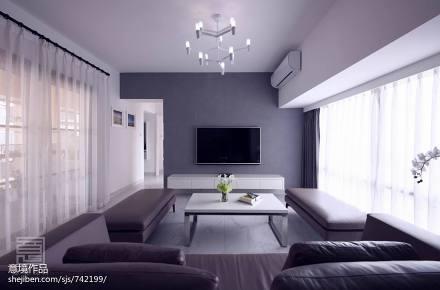 热门82平米二居客厅简约装修设计效果图客厅2图