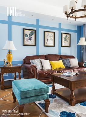 精选大小92平美式三居客厅欣赏图片大全