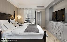典雅80平美式三居效果图片大全三居美式经典家装装修案例效果图