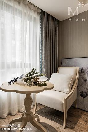 温馨79平美式三居卧室装修图家装装修案例效果图