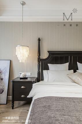 大气102平美式三居卧室装修效果图三居美式经典家装装修案例效果图