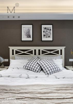 精美120平美式三居卧室效果图欣赏三居美式经典家装装修案例效果图