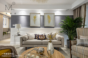 大气75平美式三居设计美图三居美式经典家装装修案例效果图