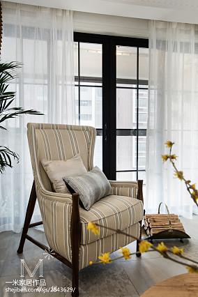 优美76平美式三居客厅设计美图家装装修案例效果图