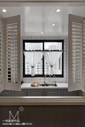 温馨101平美式三居厨房装潢图家装装修案例效果图
